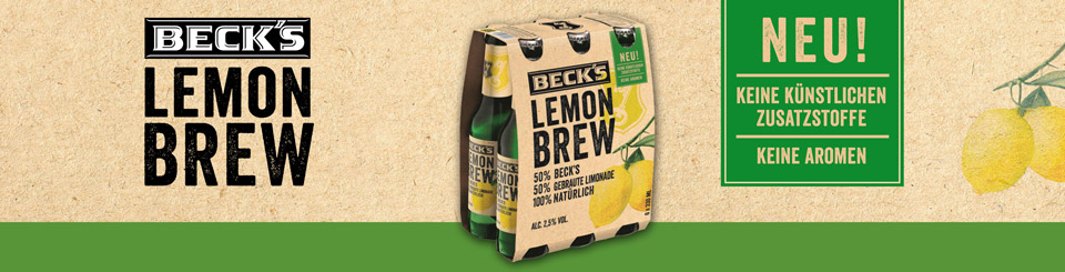 InBev Becks Lemon Brew