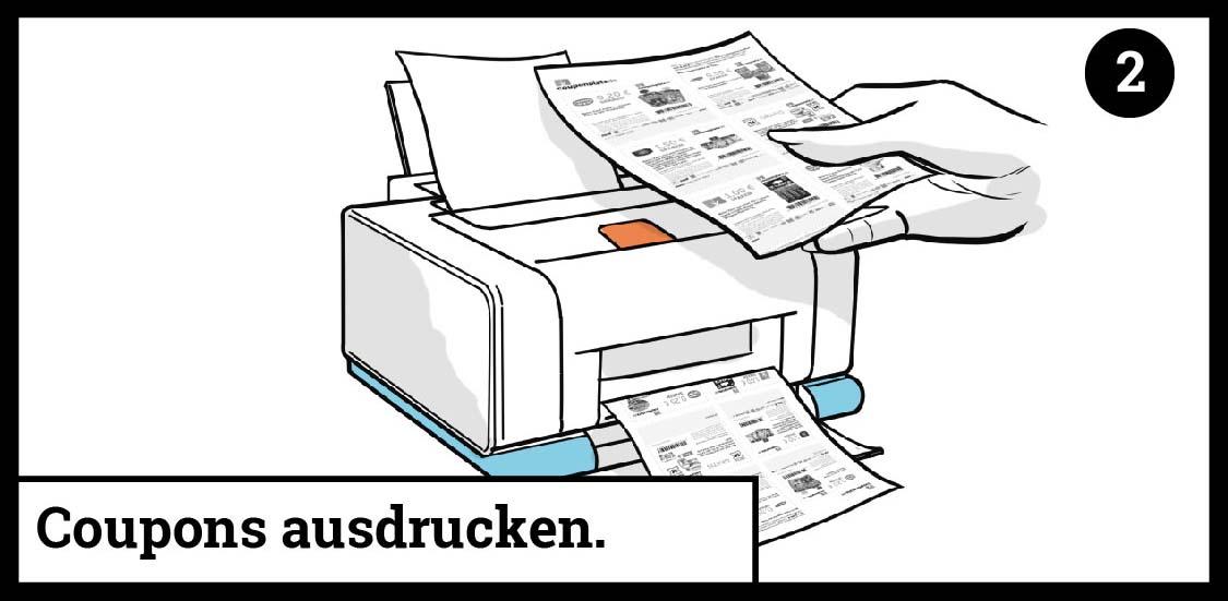 Coupons ausdrucken oder gratis zusenden lassen